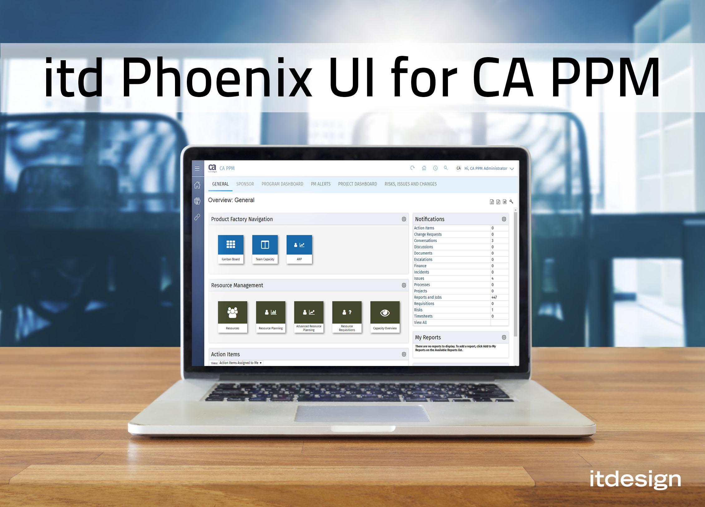 Das neue itd Phoenix UI für CA PPM ist da!