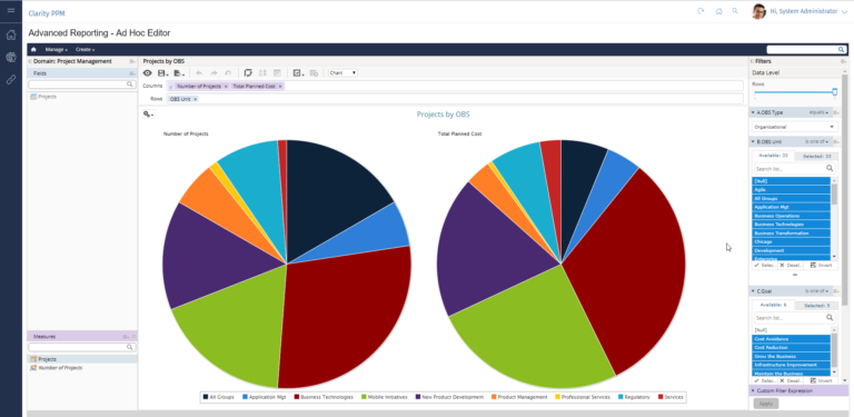 Clarity PPM: Ad hoc reporting of your projects