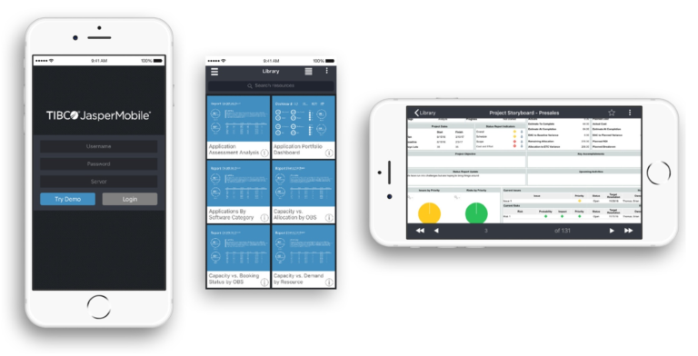 Clarity PPM: Overview of your projects even on the road with JasperMobile