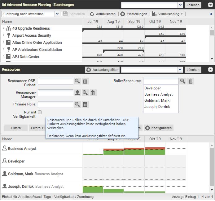 itd Advanced Resource Planning 7.6.0 Grundeinstellung