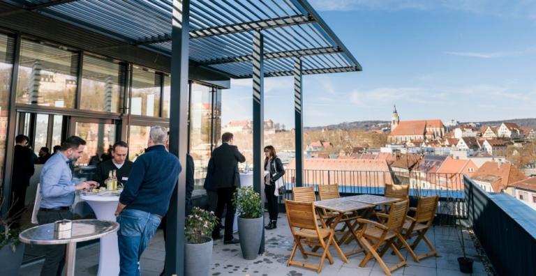 itdesign Dachterrasse in Tübingen