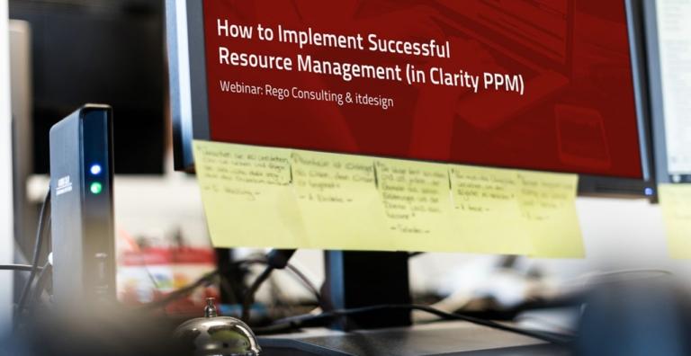 Header Webinar Teil 1: Ressourcenmanagement richtig gemacht - Rego Consulting und itdesign