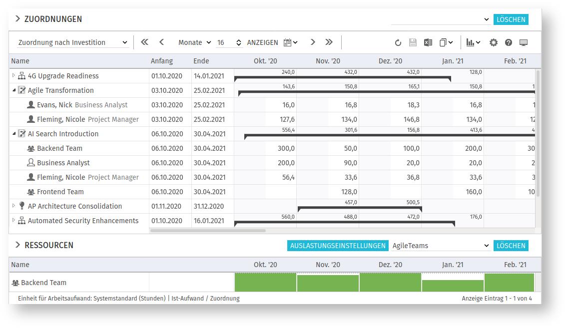 itd Advanced Resource Planning 8.1.0: Unterstützung benutzerdefinierter Investitionen