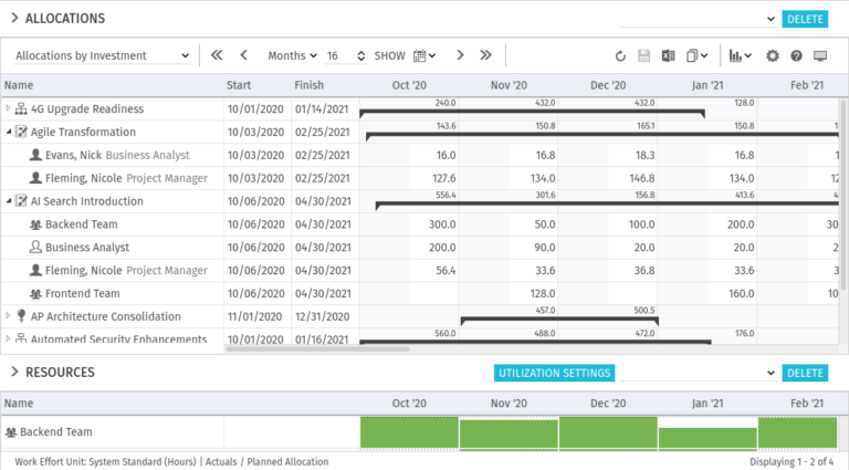 itd Advanced Resource Planning 8.1.0: Support of custom investments