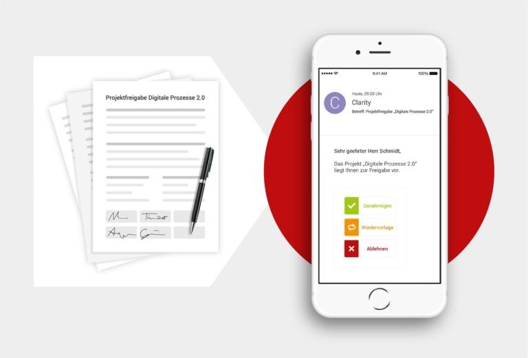Beschleunigen Sie Ihre digitalen Freigabeprozesse über alle Entscheiderebenen