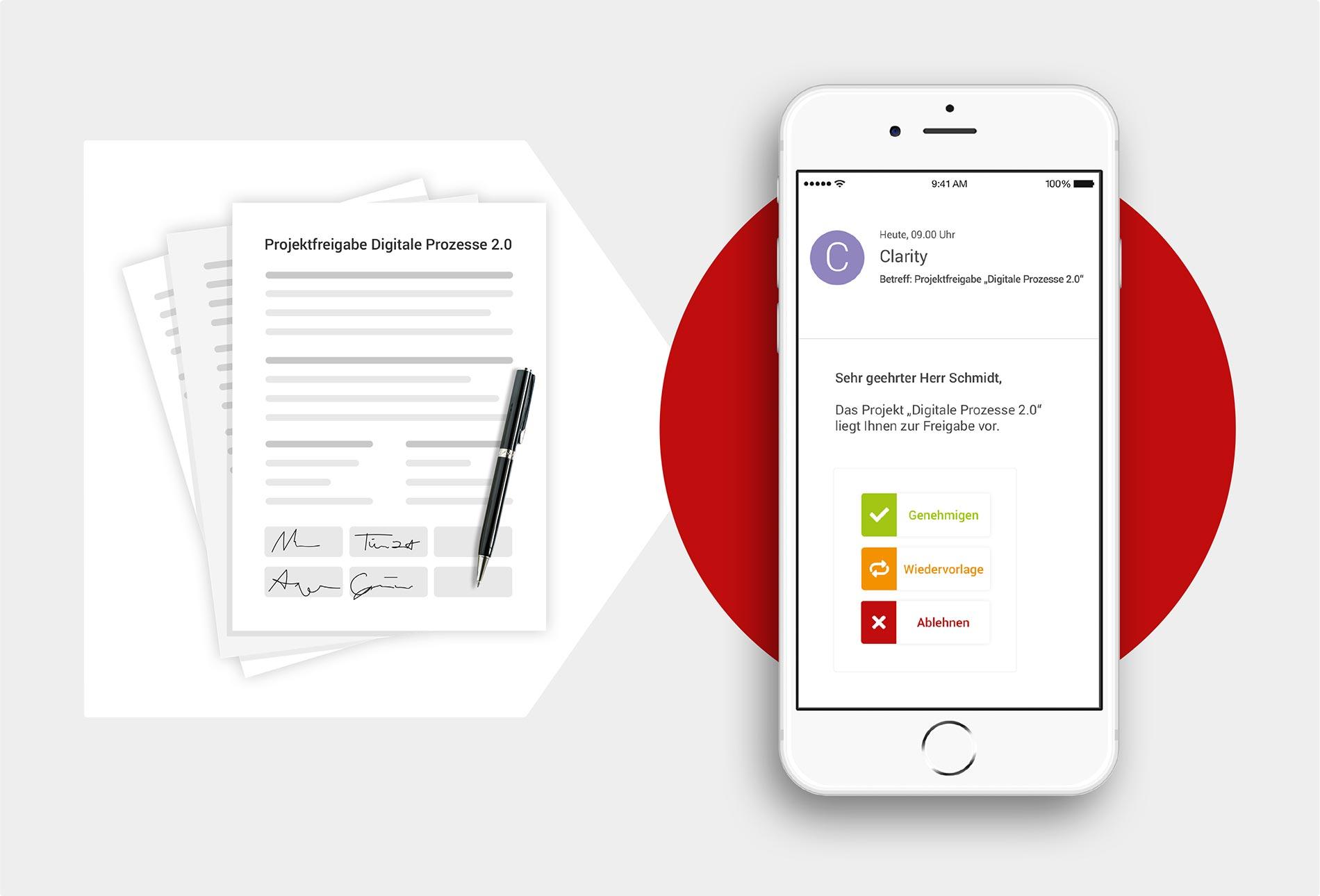 Mit der Erweiterung itd Digital Approval für Clarity PPM beschleunigen Sie Ihre digitalen Freigabeprozesse über alle Entscheiderebenen